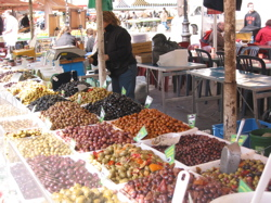 Olives at the market in Nice.