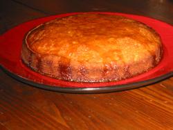 Orange flower pine nut torta.