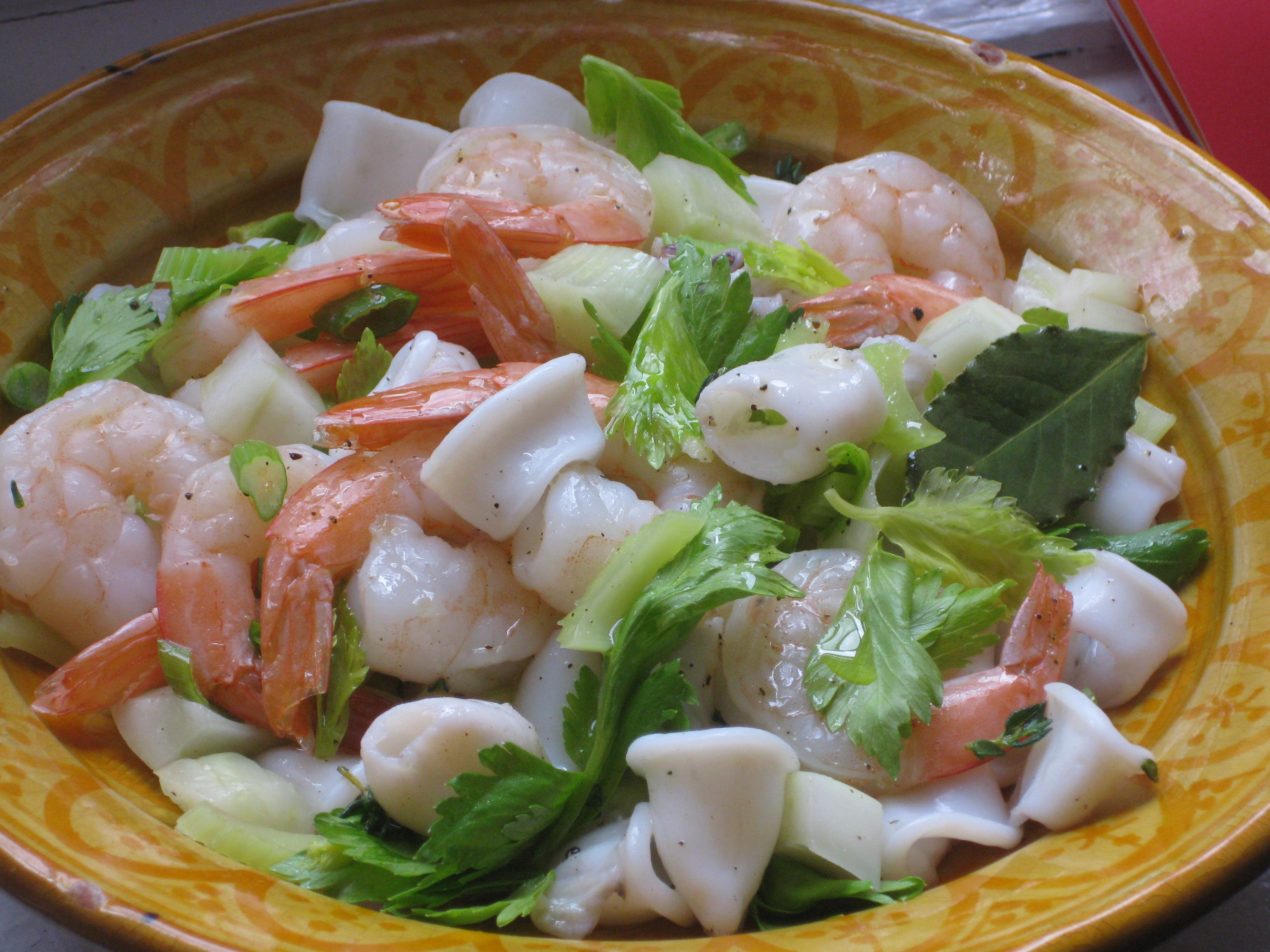 Calamari and Shrimp Salad for Saraghina » calamari-salad