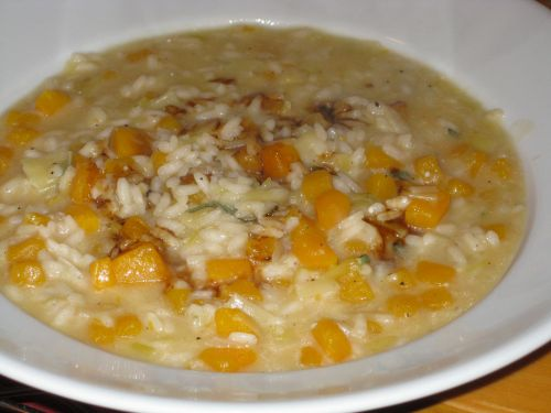 risotto-plated