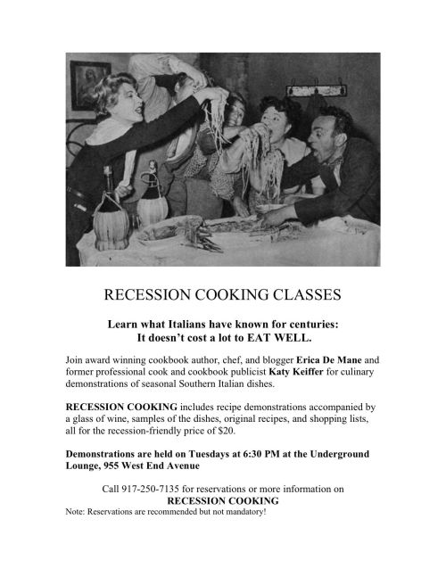 RECESSION COOKING Promo