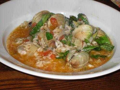 clam risotto