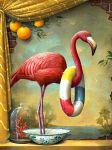 oranges flamingo