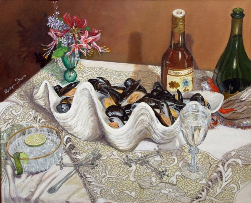 Mussels and Haitian Rhum