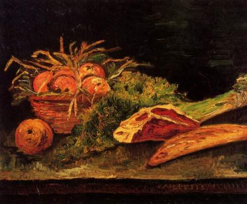 t_Van Gogh - Still Life with Apples, Meat and a Roll