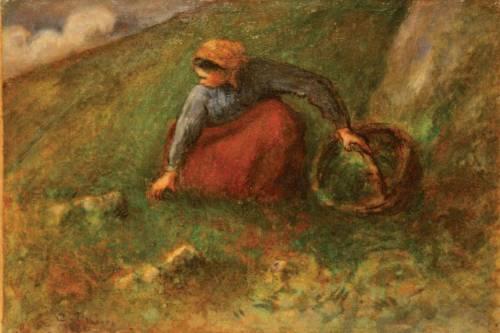 Camille Pissarro Woman Gathering Herbs, 1880