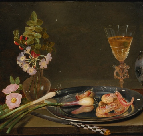 Still_life_with_shrimp,_ramps,_flowers_and_a_glass_vase
