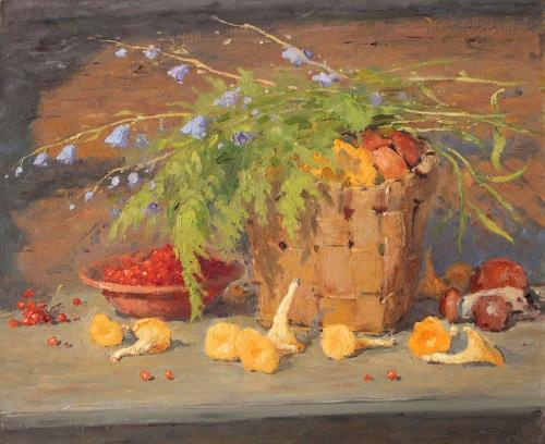 still-life-with-chanterelle-alexander-alexandrovsky